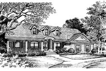 House Plan Design - Ranch Exterior - Front Elevation Plan #417-648