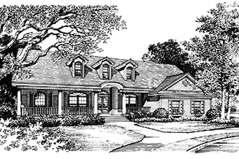 Ranch Exterior - Front Elevation Plan #417-648 - Houseplans.com