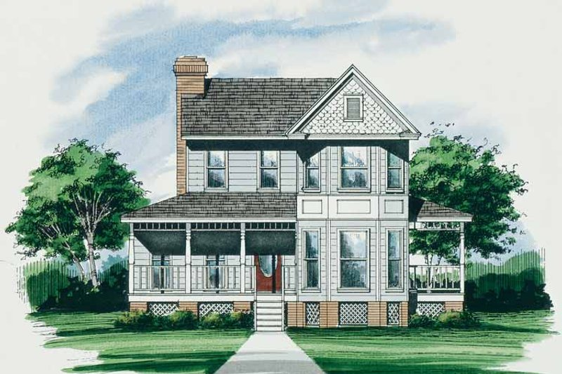 Victorian Exterior - Front Elevation Plan #10-269