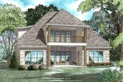 Tudor Style House Plan - 4 Beds 3 Baths 2972 Sq/Ft Plan #17-3405 Exterior - Rear Elevation