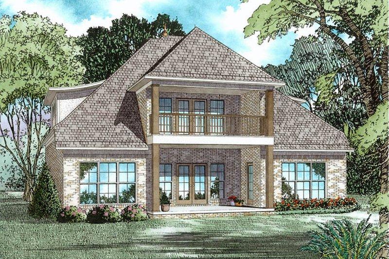 Tudor Exterior - Rear Elevation Plan #17-3405 - Houseplans.com