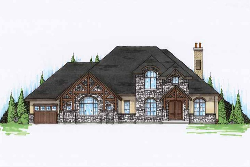 Craftsman Exterior - Front Elevation Plan #945-74