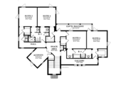 Mediterranean Style House Plan - 6 Beds 4.5 Baths 4463 Sq/Ft Plan #1058-13 Floor Plan - Upper Floor Plan