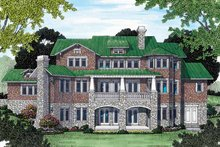 Craftsman Exterior - Rear Elevation Plan #453-463