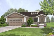 Bungalow Style House Plan - 3 Beds 2 Baths 1977 Sq/Ft Plan #50-253 Exterior - Front Elevation