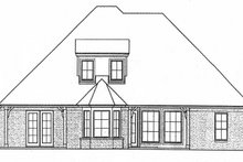 Home Plan - European Exterior - Rear Elevation Plan #310-1267