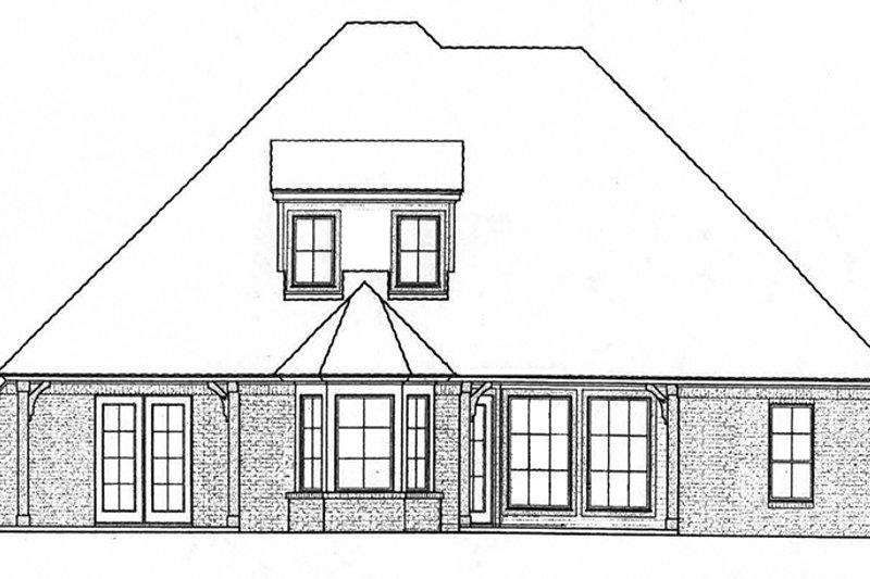 European Exterior - Rear Elevation Plan #310-1267 - Houseplans.com