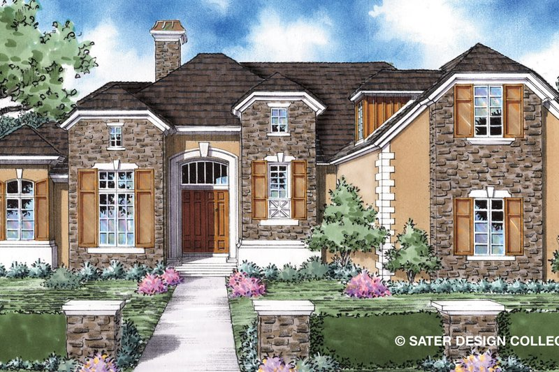 Country Exterior - Front Elevation Plan #930-298