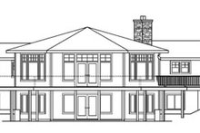 Craftsman Exterior - Rear Elevation Plan #124-730
