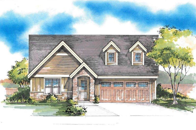 House Plan Design - Craftsman Exterior - Front Elevation Plan #53-603