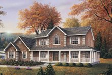 Architectural House Design - Country Exterior - Front Elevation Plan #57-139