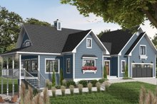 Architectural House Design - Southern Exterior - Front Elevation Plan #23-578