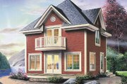 Country Style House Plan - 1 Beds 1.5 Baths 1152 Sq/Ft Plan #23-2165 Exterior - Front Elevation