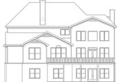 Craftsman Style House Plan - 4 Beds 5 Baths 3776 Sq/Ft Plan #419-269 Exterior - Rear Elevation
