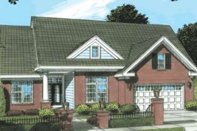 Dream House Plan - Traditional Exterior - Front Elevation Plan #20-1873