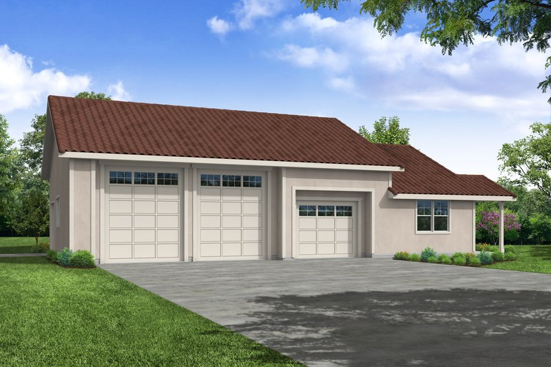 Dream House Plan - Mediterranean Exterior - Front Elevation Plan #124-1177