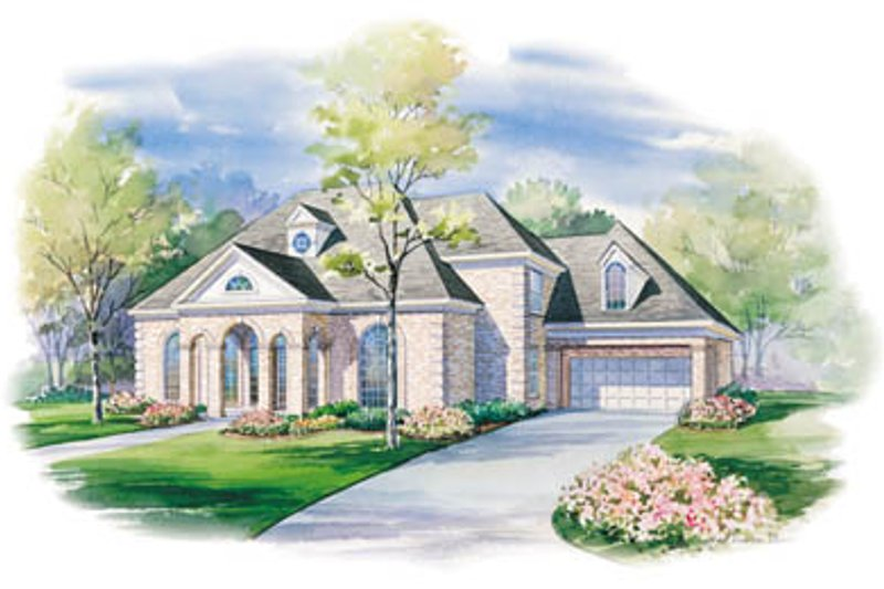 European Exterior - Front Elevation Plan #20-1135 - Houseplans.com