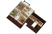Country Style House Plan - 4 Beds 2 Baths 3362 Sq/Ft Plan #25-4688 Floor Plan - Upper Floor