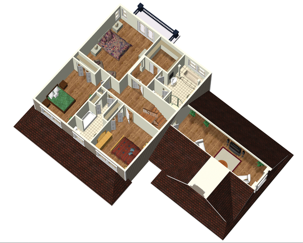 Country Floor Plan - Upper Floor Plan Plan #25-4688
