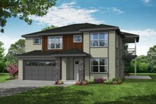 House Plan Design - Craftsman Exterior - Front Elevation Plan #124-1205