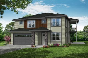 Craftsman Exterior - Front Elevation Plan #124-1205