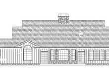 Colonial Exterior - Rear Elevation Plan #119-328