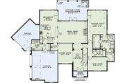 European Style House Plan - 5 Beds 4 Baths 3601 Sq/Ft Plan #17-2382 Floor Plan - Main Floor Plan