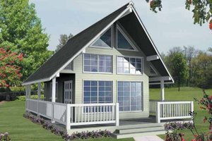 Architectural House Design - Traditional Exterior - Front Elevation Plan #118-156