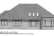 Traditional Style House Plan - 2 Beds 2 Baths 2238 Sq/Ft Plan #70-350 Exterior - Rear Elevation