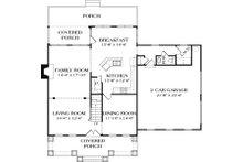 Craftsman Floor Plan - Main Floor Plan Plan #453-7