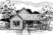 Traditional Style House Plan - 3 Beds 1 Baths 1042 Sq/Ft Plan #50-221 Exterior - Front Elevation