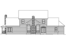 Farmhouse Exterior - Rear Elevation Plan #57-135