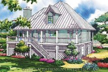 Architectural House Design - Country Exterior - Rear Elevation Plan #930-31