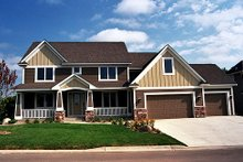 Craftsman Exterior - Front Elevation Plan #51-369