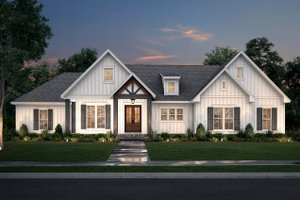 Farmhouse Exterior - Front Elevation Plan #430-233