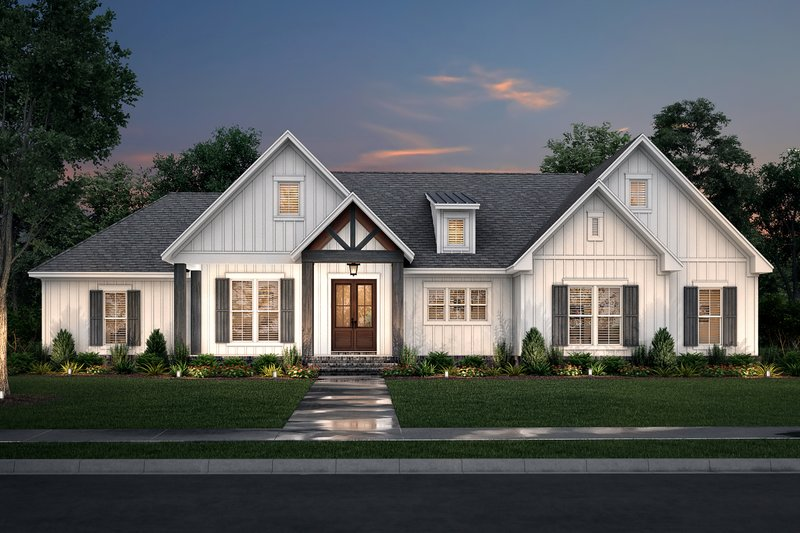 House Plan Design - Farmhouse Exterior - Front Elevation Plan #430-233