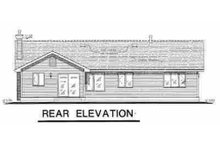 Farmhouse Exterior - Rear Elevation Plan #18-1011