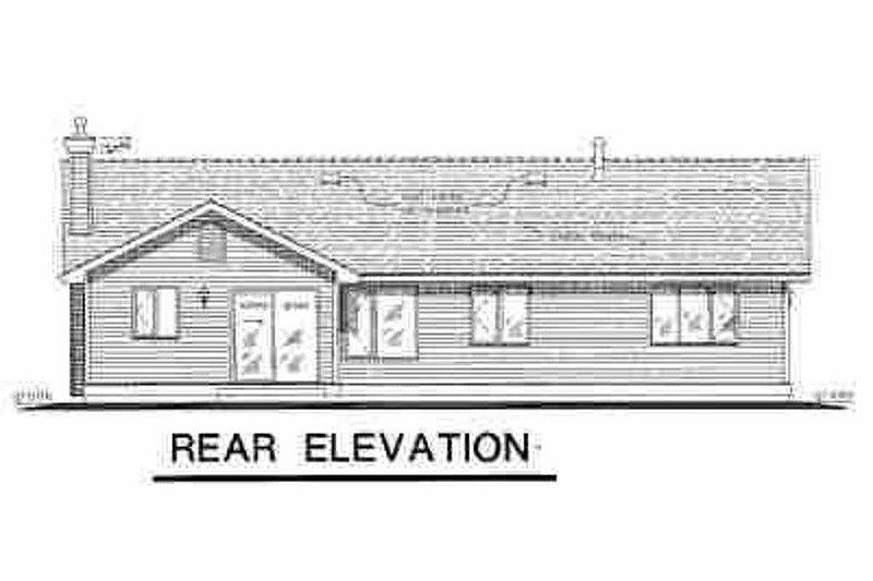 Farmhouse Exterior - Rear Elevation Plan #18-1011 - Houseplans.com