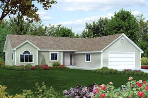 Ranch Exterior - Front Elevation Plan #57-281