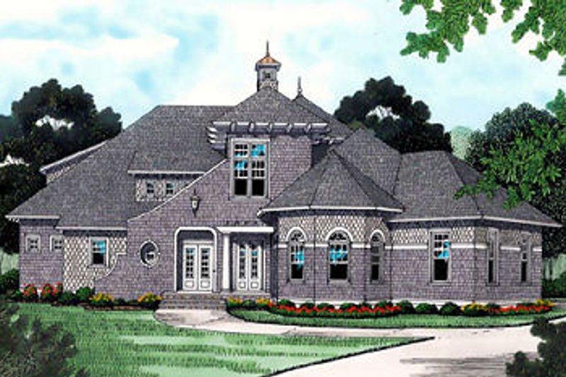 Dream House Plan - European Exterior - Front Elevation Plan #413-119