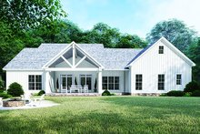 Country Exterior - Rear Elevation Plan #923-122