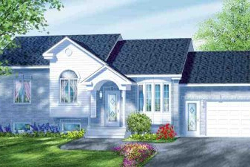 Traditional Style House Plan - 3 Beds 1 Baths 1074 Sq/Ft Plan #25-4089 Exterior - Front Elevation