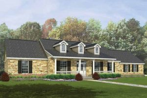 Architectural House Design - Ranch Exterior - Front Elevation Plan #935-2
