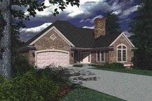 House Plan Design - European Exterior - Front Elevation Plan #48-132