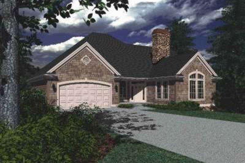 House Design - European Exterior - Front Elevation Plan #48-132