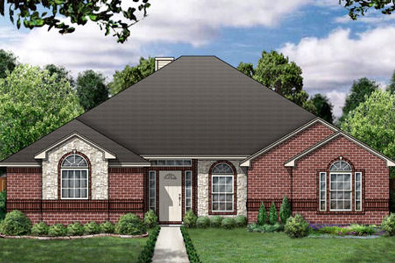 Traditional Exterior - Front Elevation Plan #84-348 - Houseplans.com