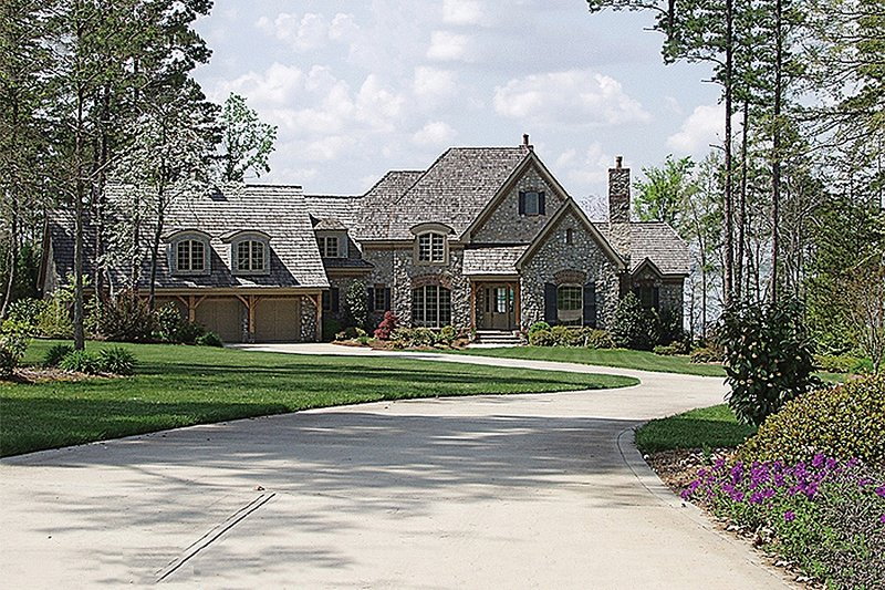 Home Plan - European Exterior - Front Elevation Plan #453-42