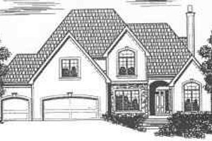 Traditional Exterior - Front Elevation Plan #6-136