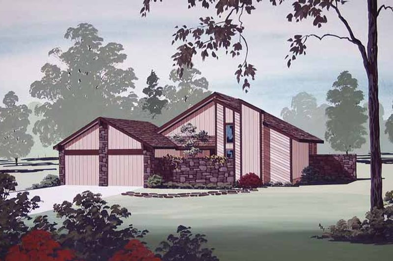 Home Plan - Contemporary Exterior - Front Elevation Plan #45-405