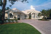 Mediterranean Style House Plan - 3 Beds 3 Baths 2794 Sq/Ft Plan #930-24 Exterior - Front Elevation